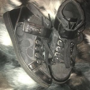 Coach sneakers with ankle strap
